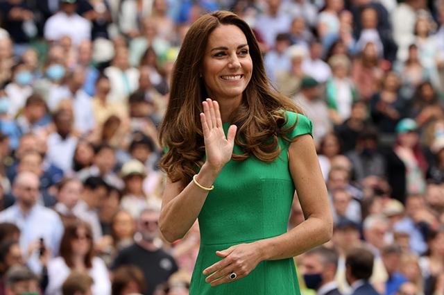 Кейт Миддлтон и принц Уильям побывали на финале Уимблдонского турнира - фото №1