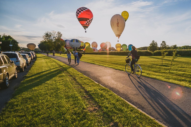 фестиваль воздушных шаров под Киевом