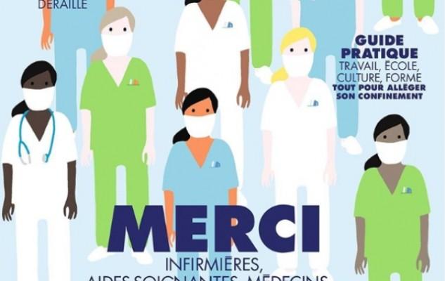 'Наши герои': французский Elle посвятил номер медработникам, которые с