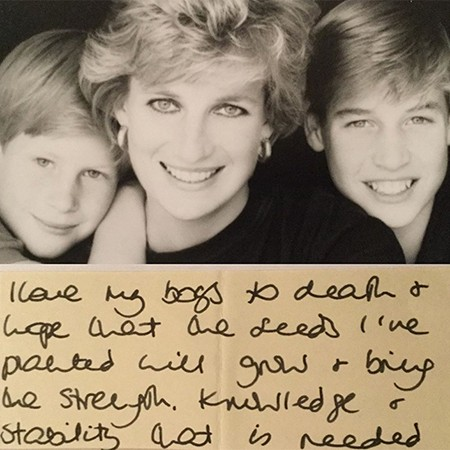 """""""До смерти люблю своих мальчиков"""": обнародовано ранее неизвестное письмо принцессы Дианы - фото №1"""