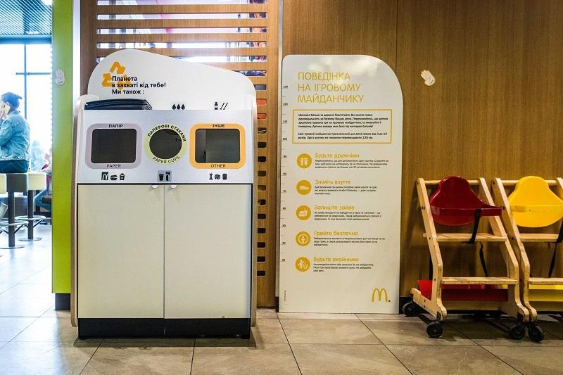 МакДональдз в Украине запускает проект сортировки и переработки отходов из залов ресторанов - фото №4