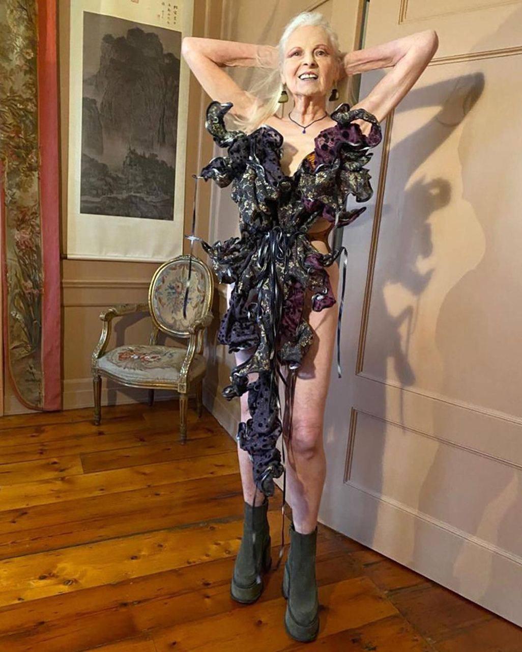 79-летняя Вивьен Вествуд обнажилась в новой фотосессии, чтобы привлечь внимание к теме изменения климата (ФОТО) - фото №2
