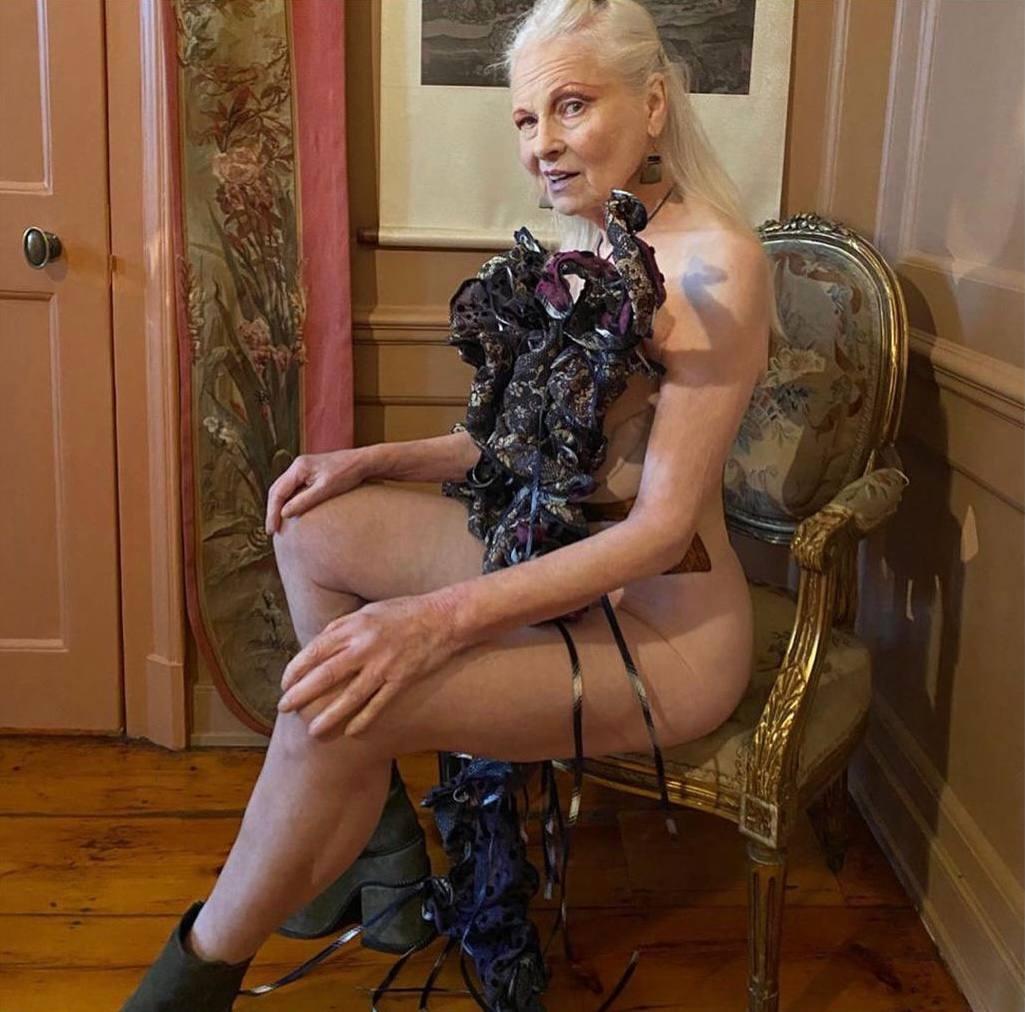 79-летняя Вивьен Вествуд обнажилась в новой фотосессии, чтобы привлечь внимание к теме изменения климата (ФОТО) - фото №1