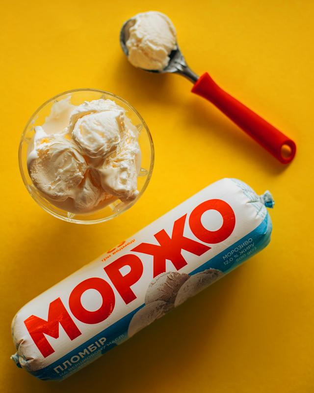 Мороженое пломбир МОРЖО в п/э пакете 1кг