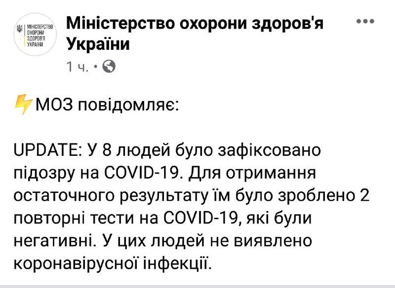 В Украине выздоровели восемь человек, заразившихся коронавирусом (ОБНОВЛЕНО) - фото №2