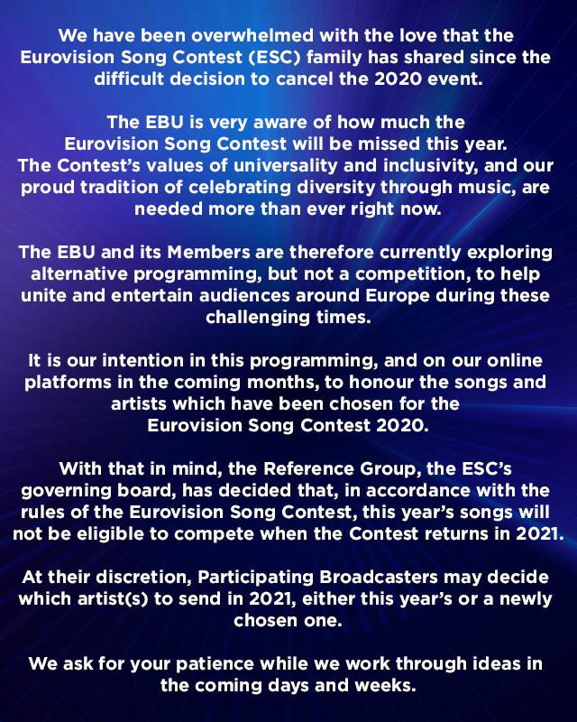 На Евровидении в 2021 году участников ждут с новыми песнями - фото №1
