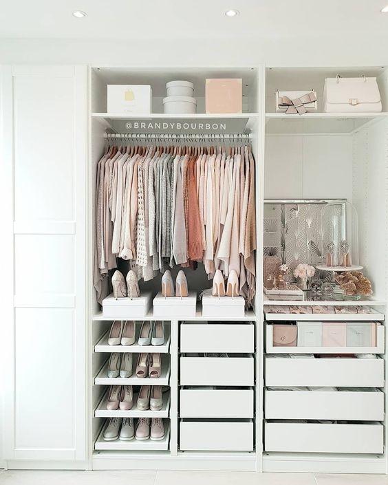 как организовать пространство шкафа