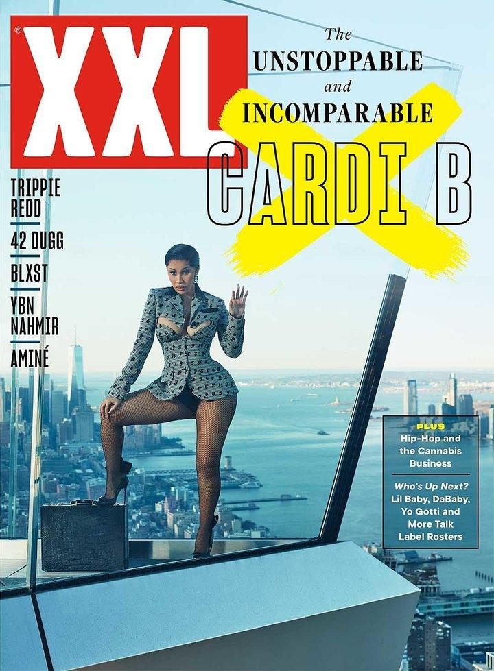 Рэперша Cardi B снялась в откровенной фотосессии для мужского журнала XXL (ФОТО) - фото №1