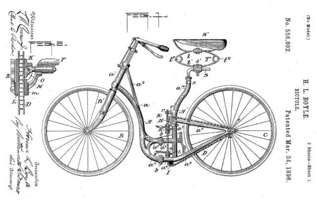 первый складной велосипед