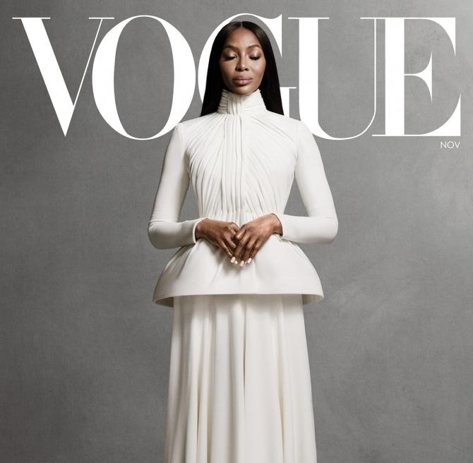 Наоми Кэмпбелл снялась для нового выпуска Vogue, который посвящен протестам в США (ФОТО) - фото №1