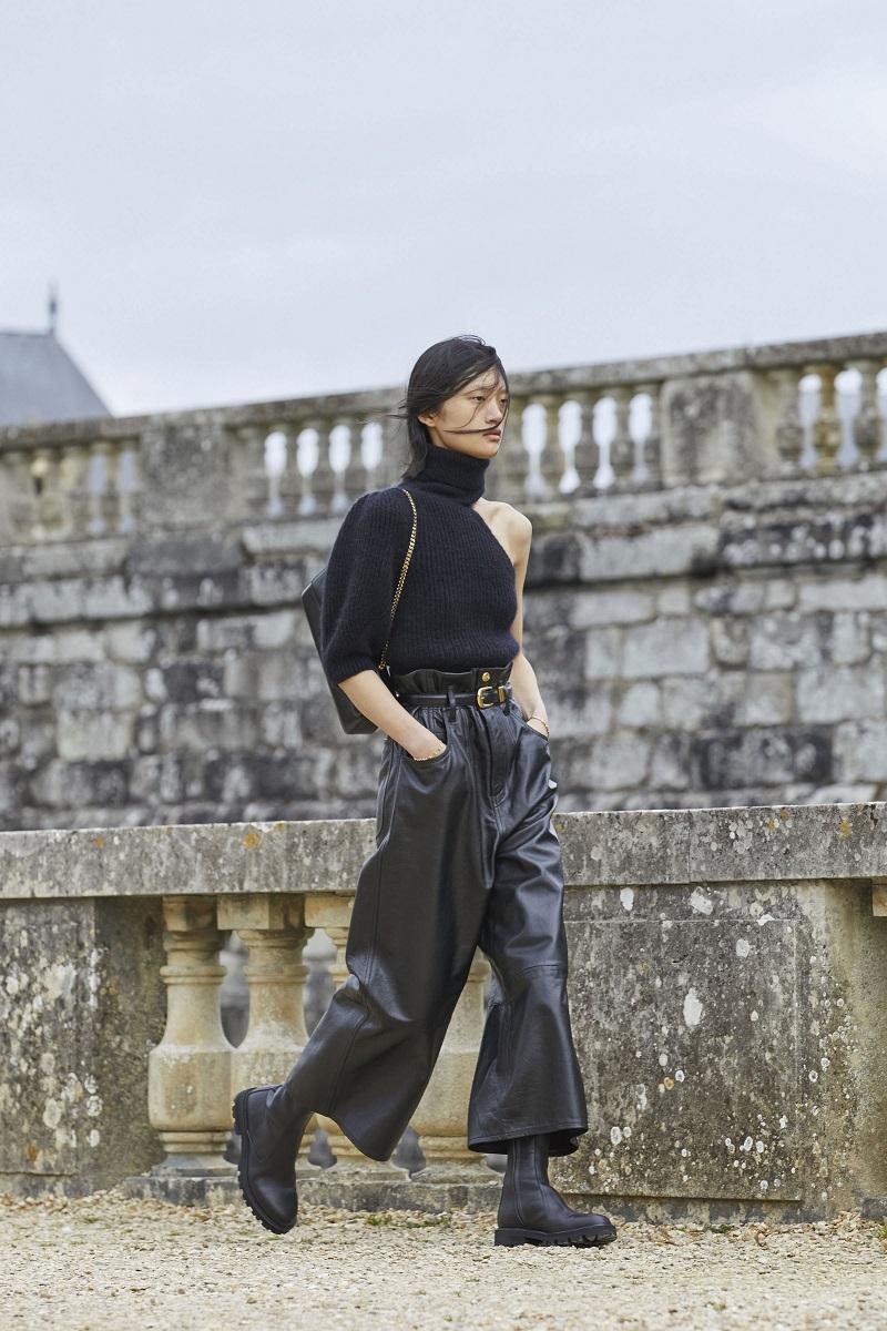Гламурные платья и сапоги-казаки: смотрите, как прошел показ Celine в Версальских садах (ФОТО) - фото №5
