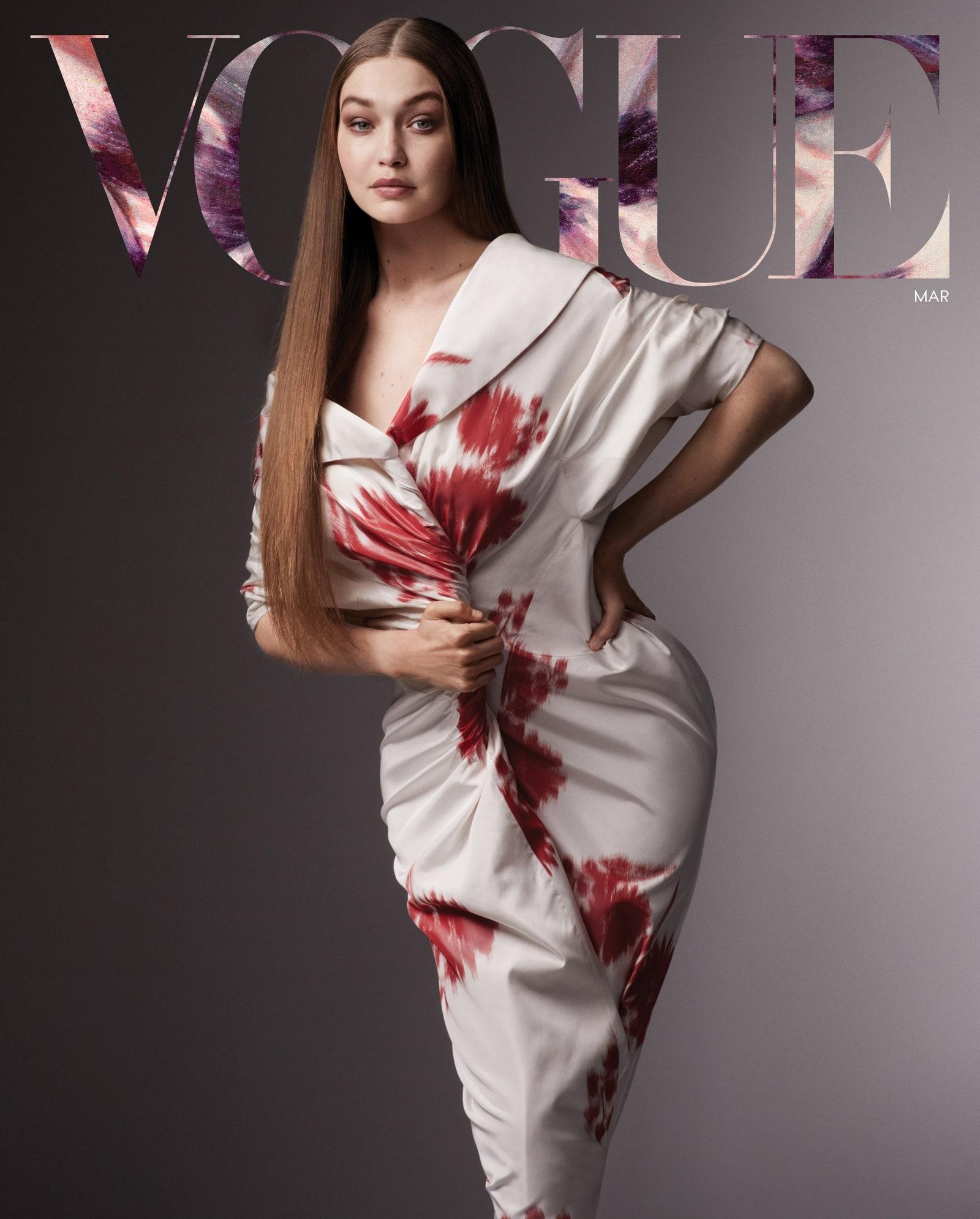 Джиджи Хадид впервые появилась на обложке Vogue после рождения дочери (ФОТО) - фото №1