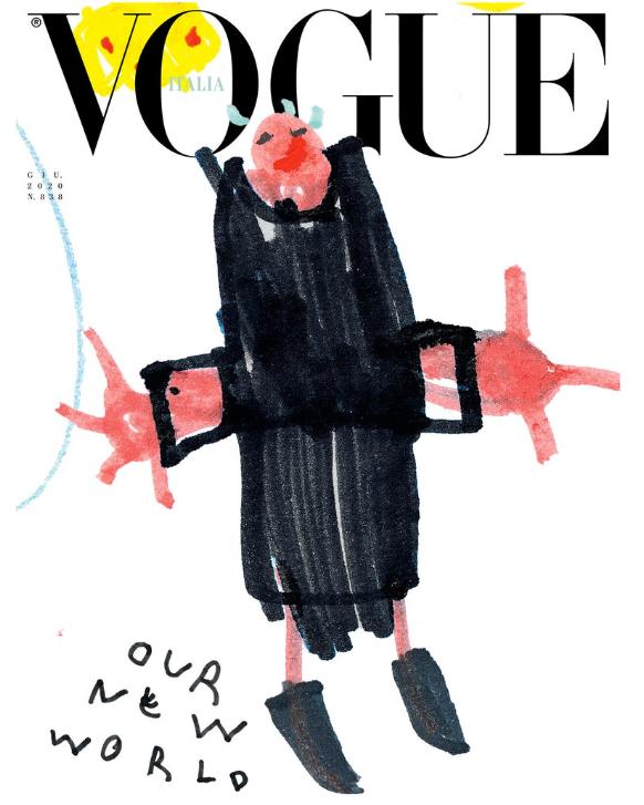 Обложка дня: итальянский Vogue поместил на обложку детские рисунки (ФОТО) - фото №5