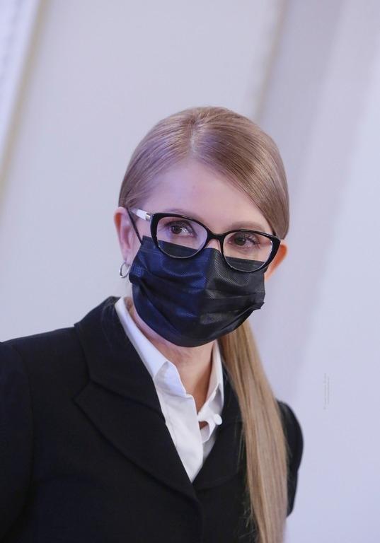 Юлия Тимошенко в маске