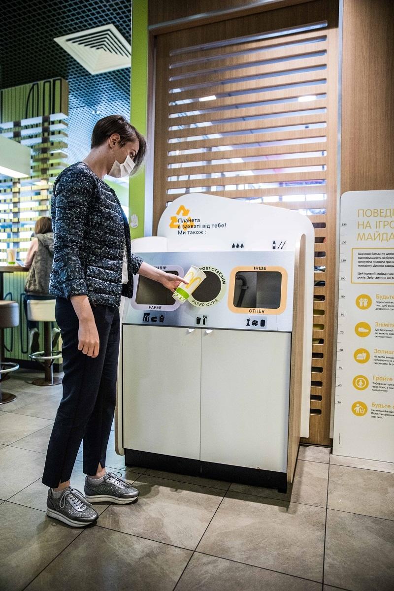 МакДональдз в Украине запускает проект сортировки и переработки отходов из залов ресторанов - фото №3