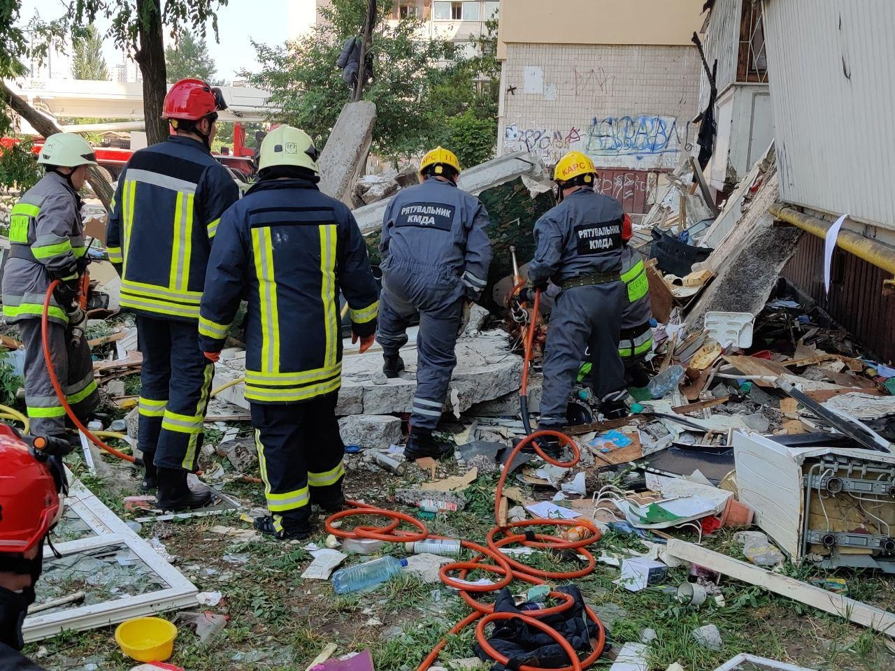 Взрыв дома в Киеве