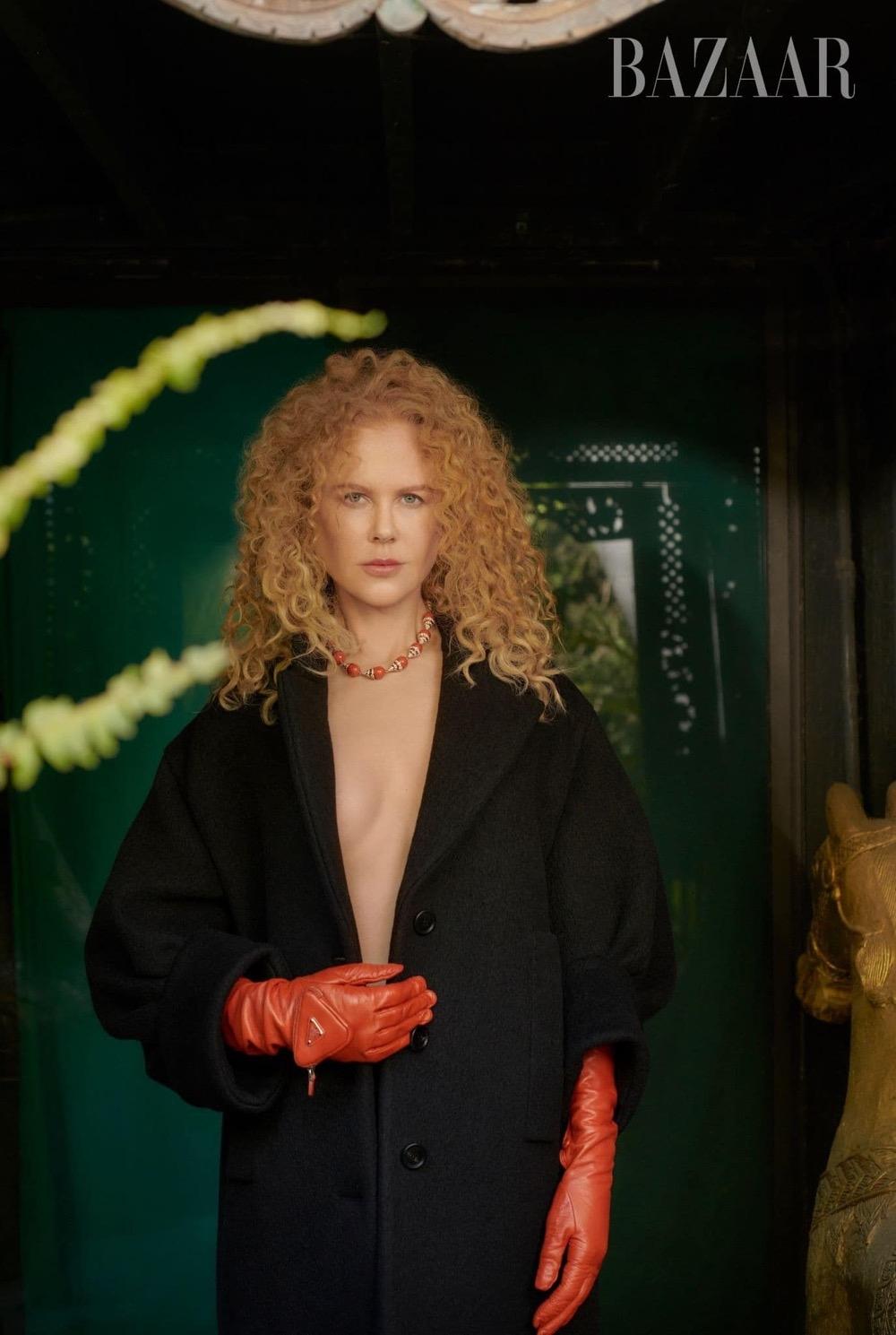 Николь Кидман снялась в гламурной фотосессии для глянца и высказалась о браке с Томом Крузом - фото №5