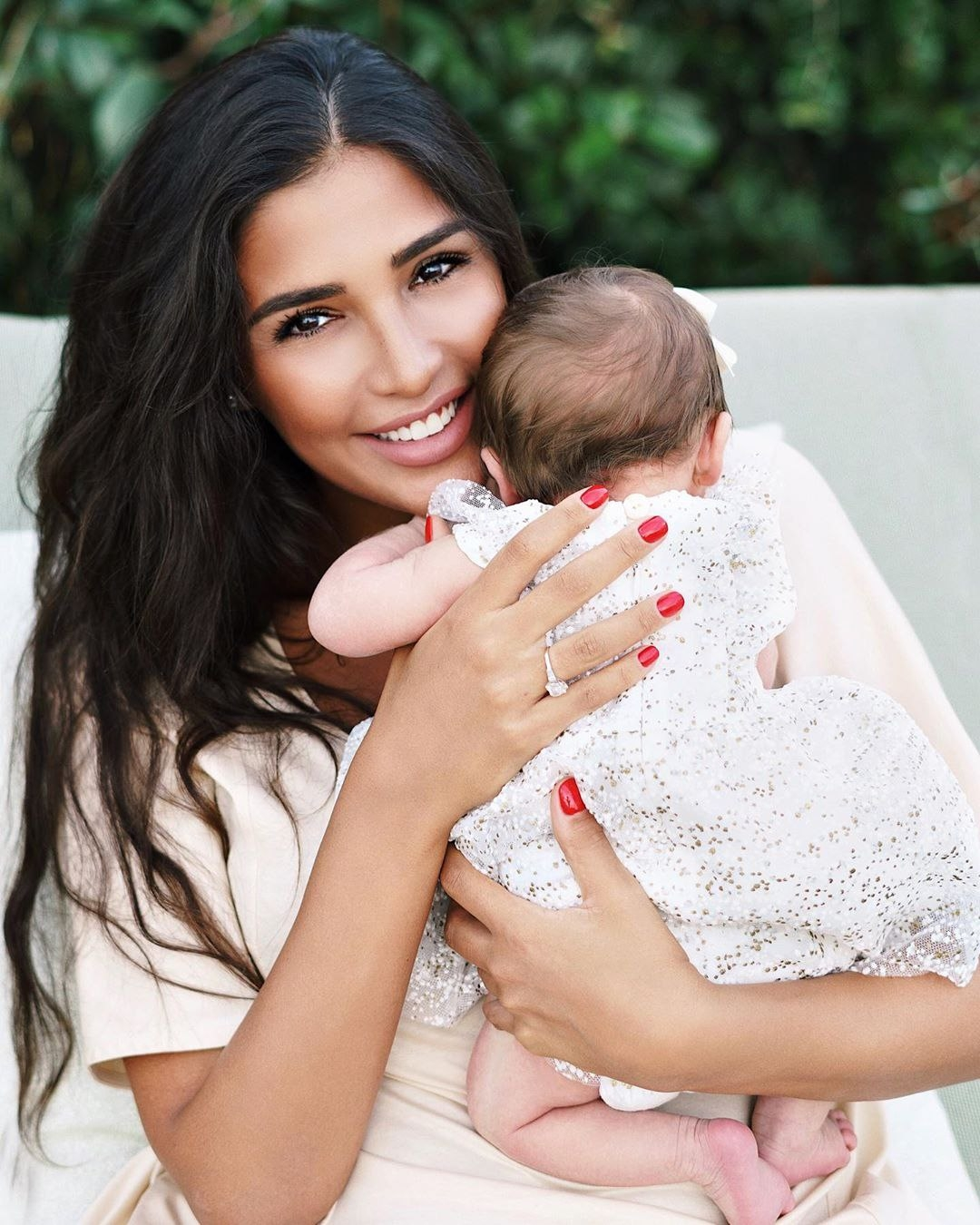 Санта Димопулос с дочерью фото