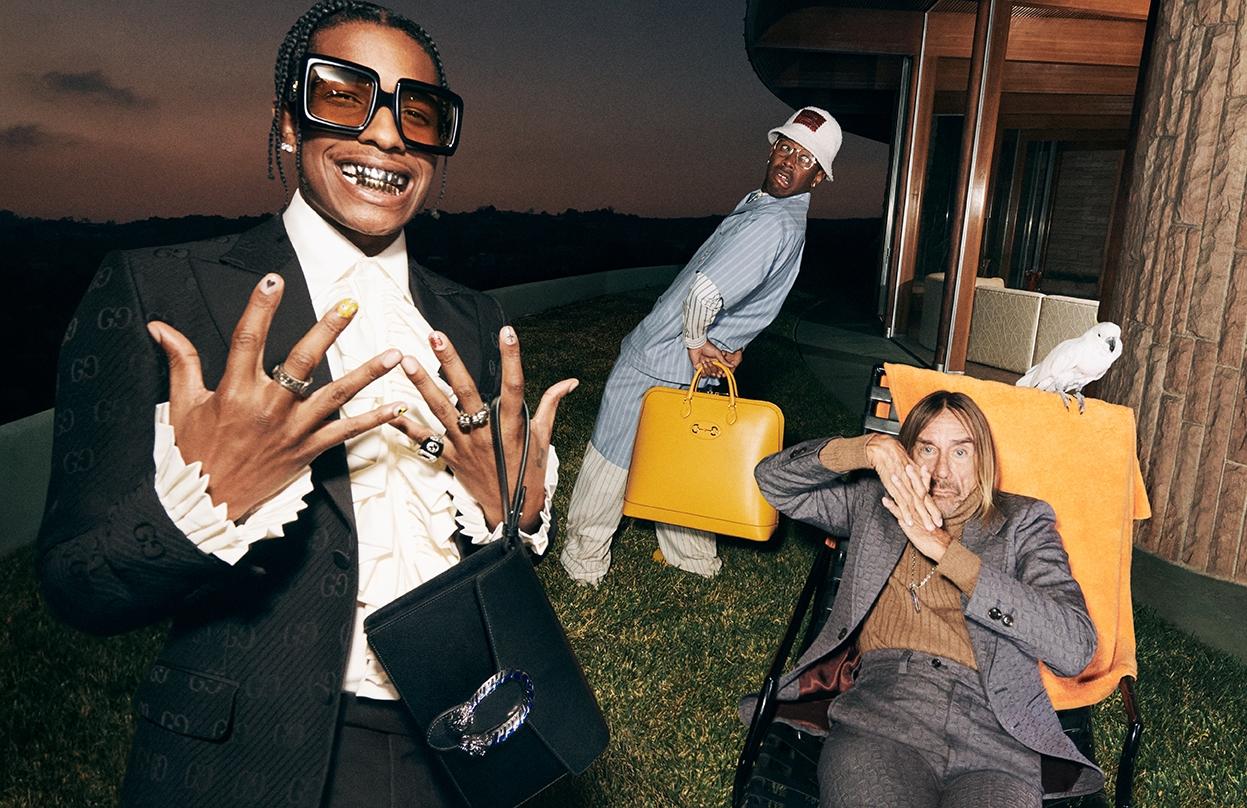 Мужская элегантность: Игги Поп, A$AP Rocky и Tyler, The Creator снялись в рекламной кампании Gucci (ФОТО+ВИДЕО) - фото №1