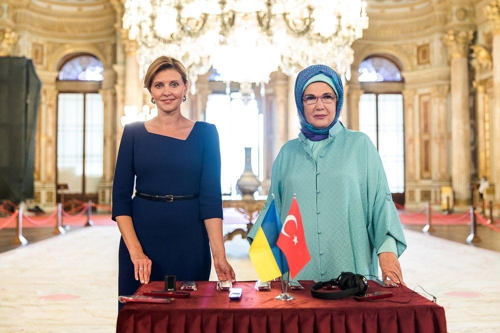 Елена Зеленская и Емине Ердоган