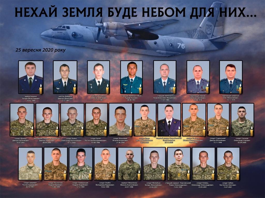 Список погибших в авиакатастрофе Ан-26 вблизи Чугуева