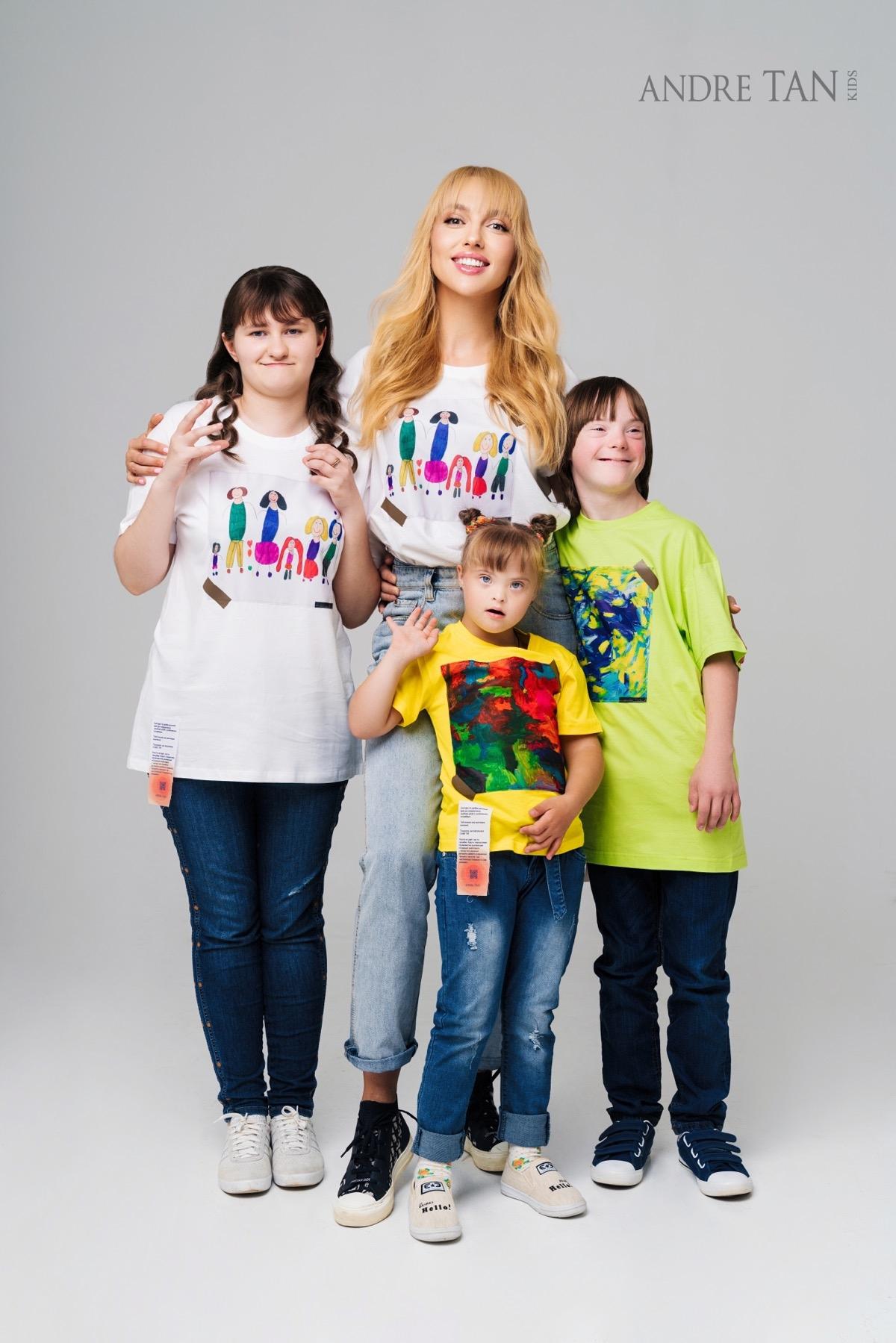 """""""Строим здоровое общество"""": Андре Тан выпустил коллекцию одежды с рисунками детей с особыми потребностями (ФОТО) - фото №2"""