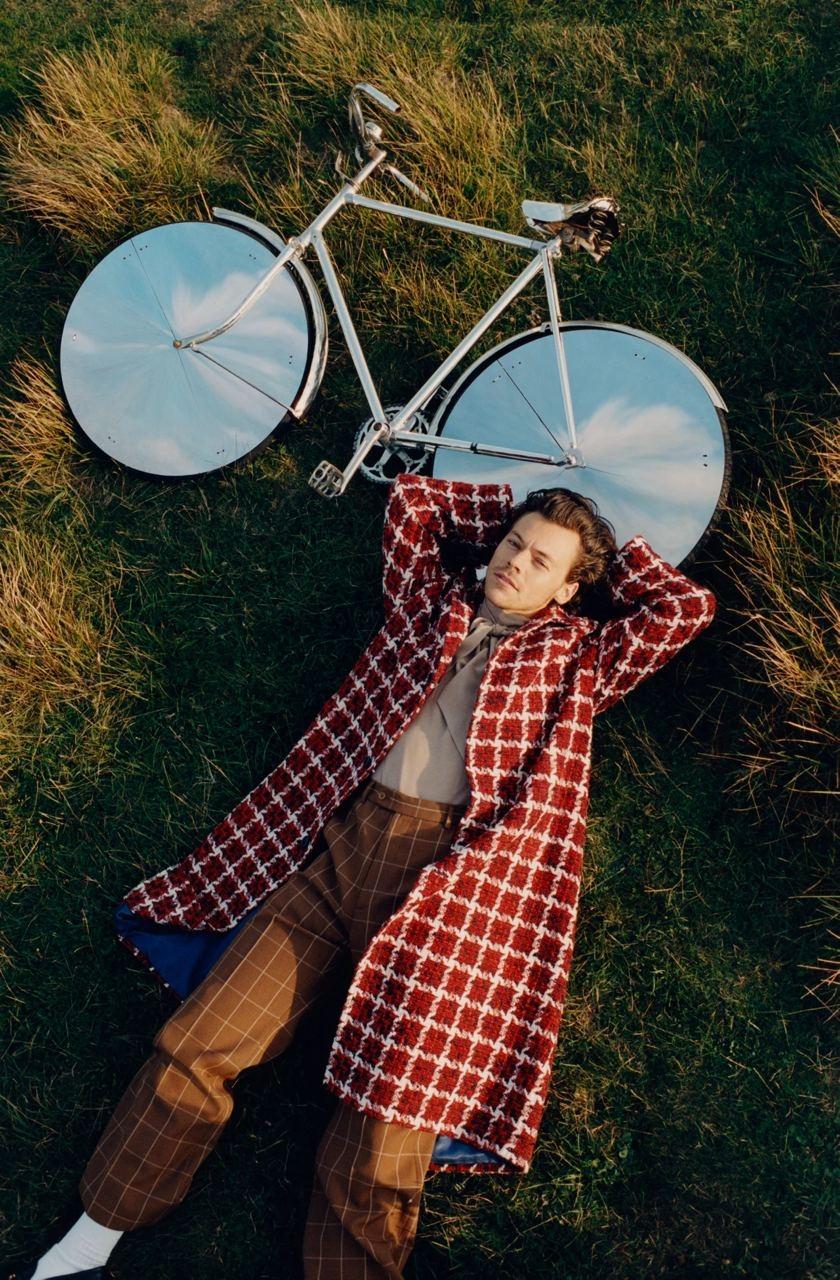 Гарри Стайлс примерил кружевные платья и юбки Gucci для американского Vogue (ФОТО) - фото №8