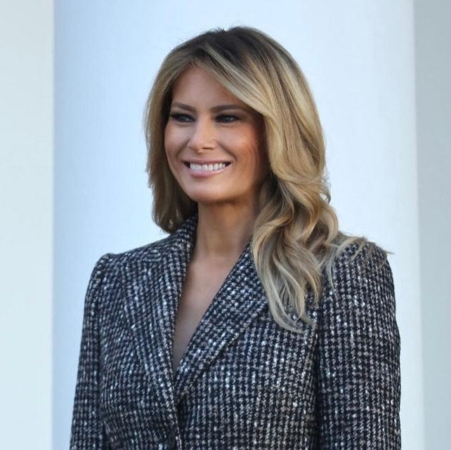 Радостная Мелания Трамп показала стильный образ и новый оттенок волос на церемонии помилования индейки (ФОТО) - фото №5