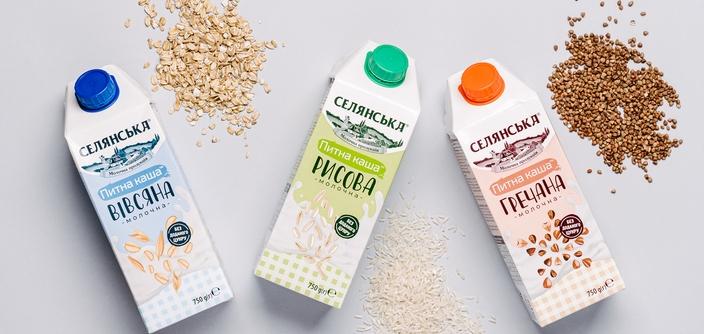 """Улюблений сніданок у новому форматі: ТМ """"Селянська"""" запустила питну молочну кашу, яку не потрібно варити - фото №1"""