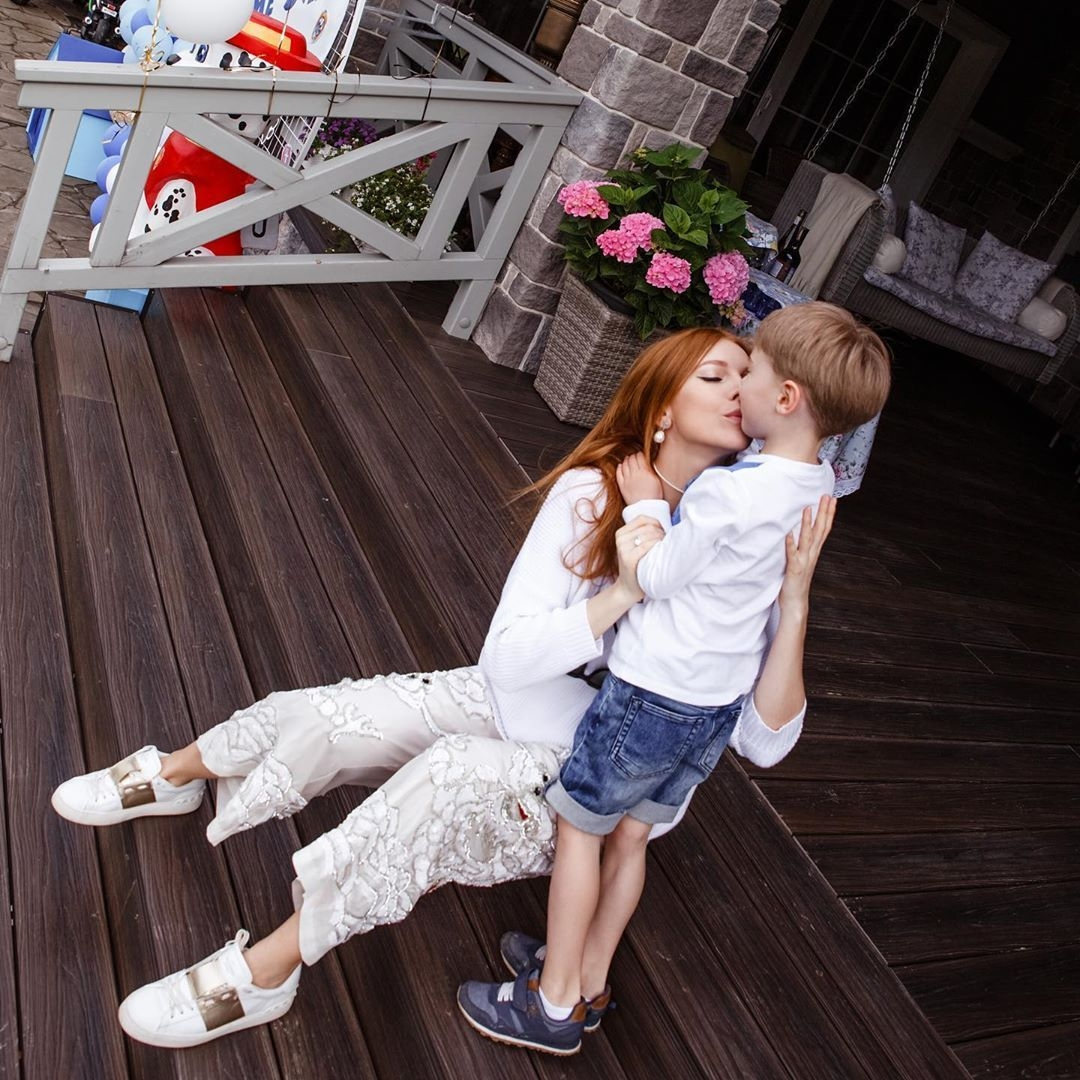 Наталья Подольская и сына Артемий