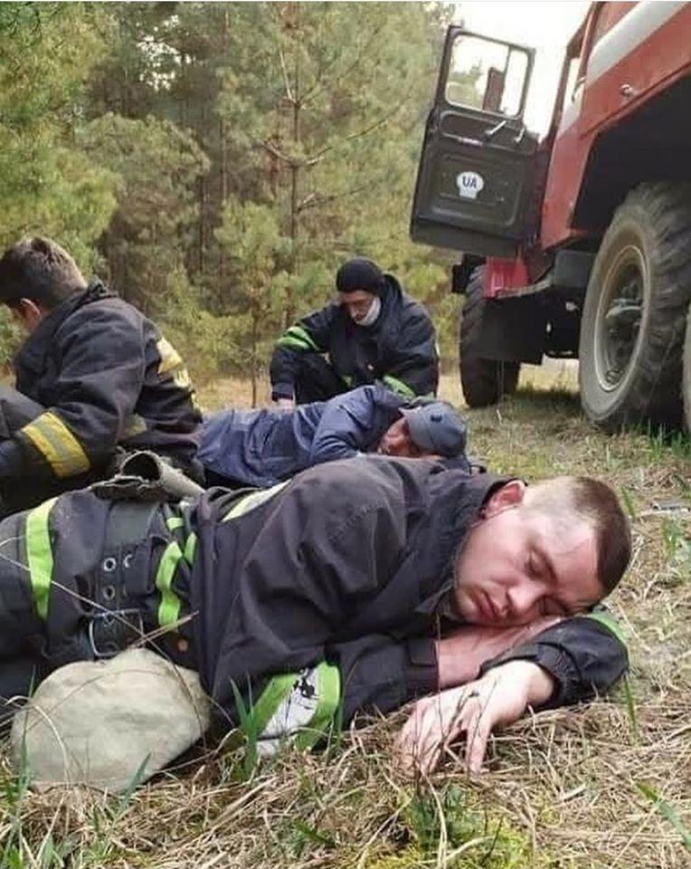 Спасатели продолжают бороться с масштабным пожаром в Чернобыле (ФОТО) - фото №1