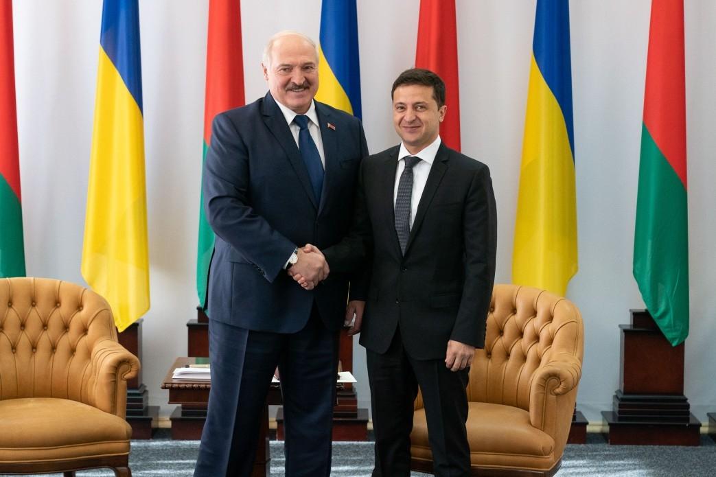 Александр Лукашенко и Владимир Зеленский фото