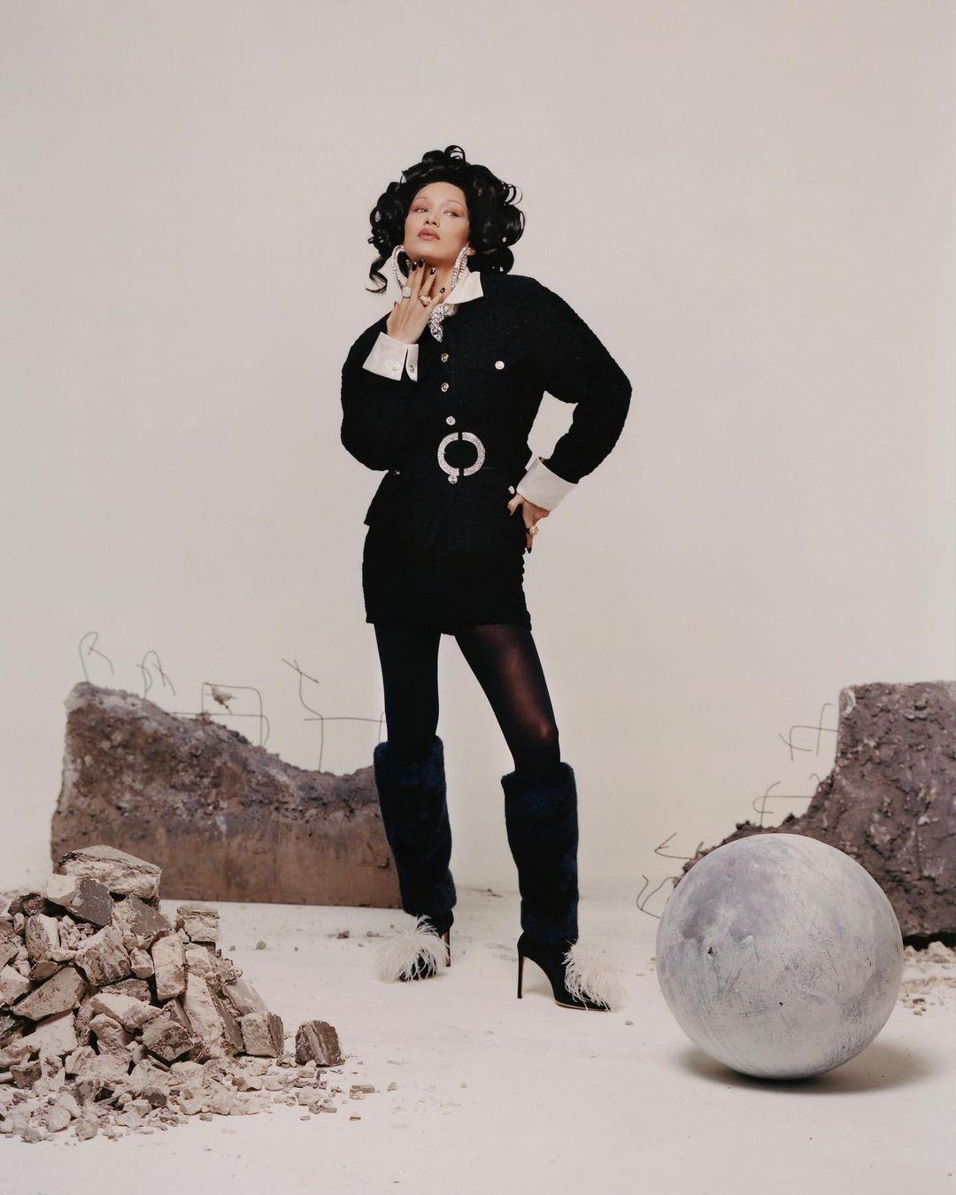 Белла Хадид снялась для испанского Vogue в образе Марии Антуанетты (ФОТО) - фото №3