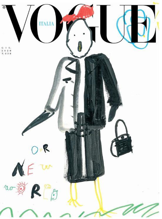 Обложка дня: итальянский Vogue поместил на обложку детские рисунки (ФОТО) - фото №6
