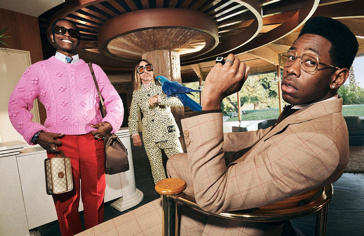 Мужская элегантность: Игги Поп, A$AP Rocky и Tyler, The Creator снялись в рекламной кампании Gucci (ФОТО+ВИДЕО) - фото №2