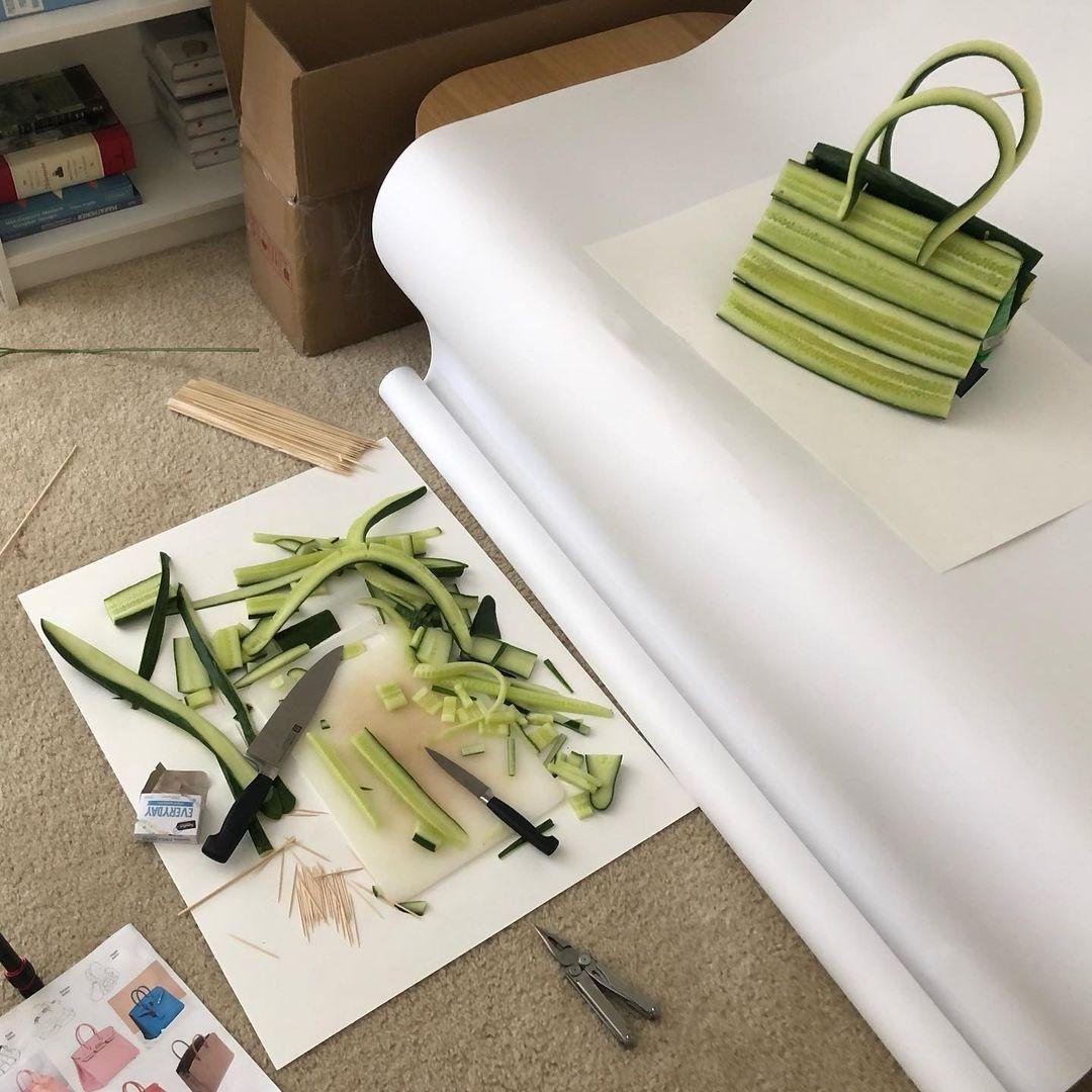 Hermès показали коллекцию съедобных сумок Birkin из овощей (ФОТО) - фото №5