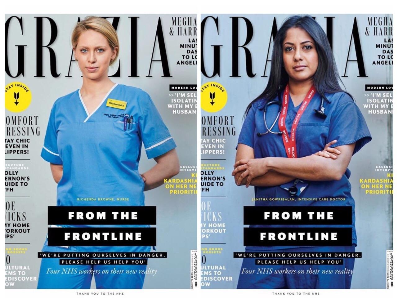 Вместо моделей — врачи: на обложке глянца Grazia женщины, которые сражаются с COVID-19 (ФОТО) - фото №2