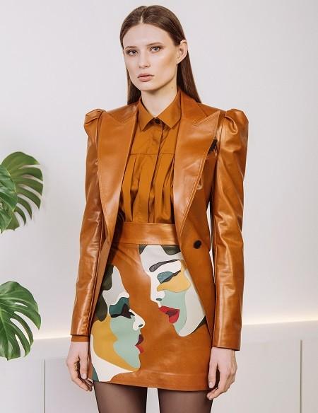 Очень много кожи: украинский дизайнер KATERINA KVIT представила lookbook новой коллекции - фото №1