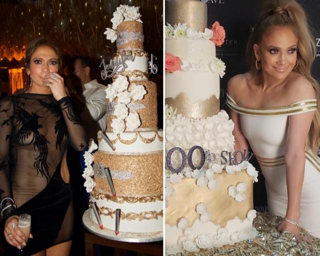 Дженнифер Лопес с тортом