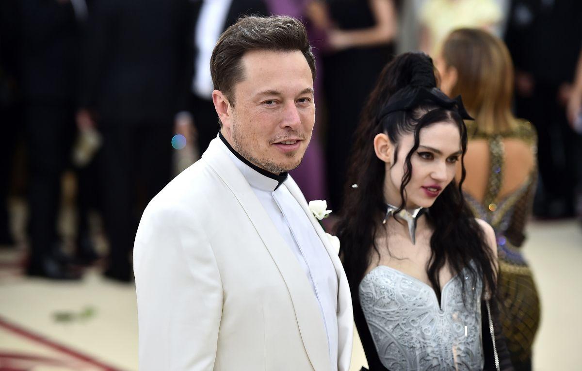 Илон Маск и Граймс фото