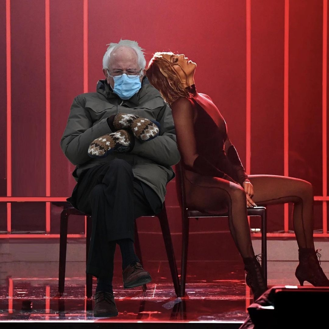 Сенатор Берни Сандер надел варежки на инаугурацию президента США: его образ взорвал Сеть и стал мемом (ФОТО) - фото №5