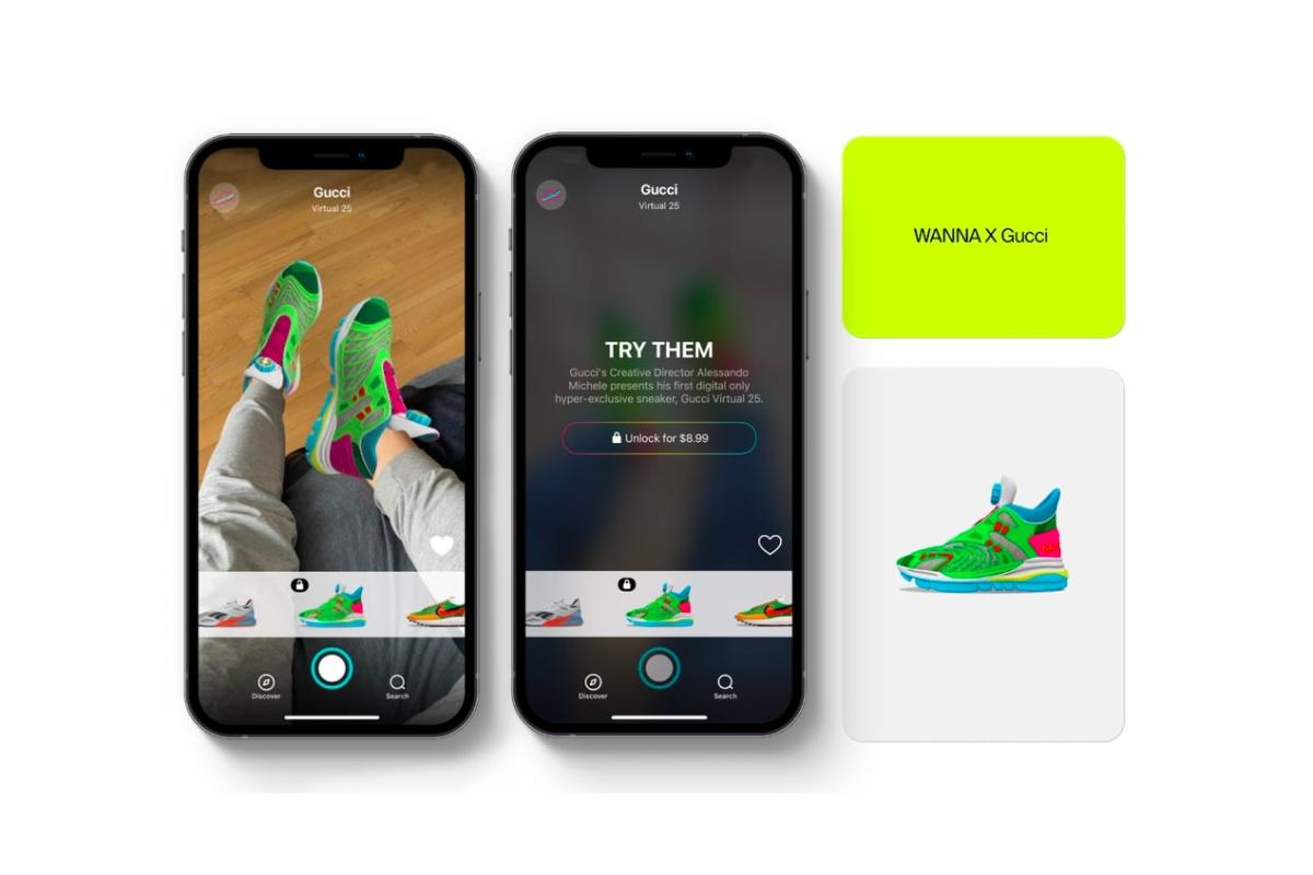 Вещь дня: Gucci представили виртуальные кроссовки - фото №1
