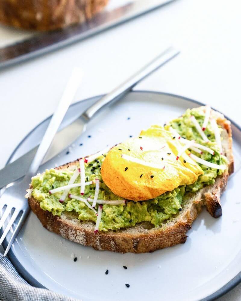 Авокадо тост с яйцом