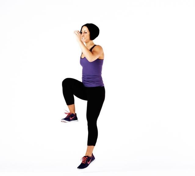 Прыжки с выбросом ноги