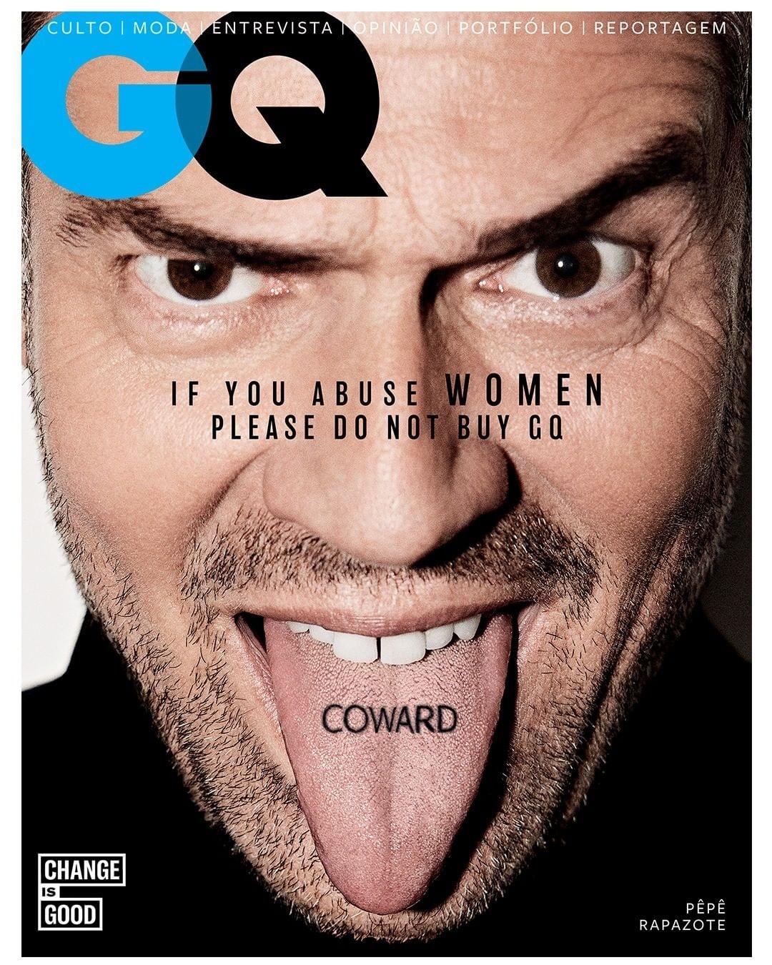 Португальский GQ посвятил новый номер борьбе с домашним насилием - фото №1